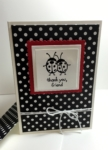 stampin up, love you lots, ladybug, thank you card, layering squares framelits