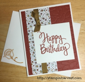 stylized birthday, stampin up, hand stamped card, birthday card